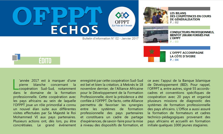 OFPPT Echos رقم 02 - يناير 2017