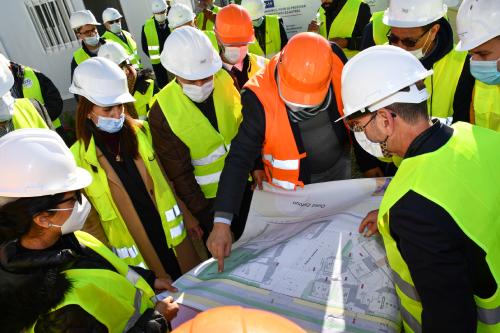 Fahs anjra : visite du chantier de construction de tanger