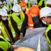 visite du chantier de construction de l'Institut Pluridisciplinaire des Métiers de la Logistique et de l'Industrie (IPMLI)