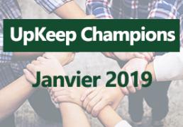 Upkeep champions January 2019