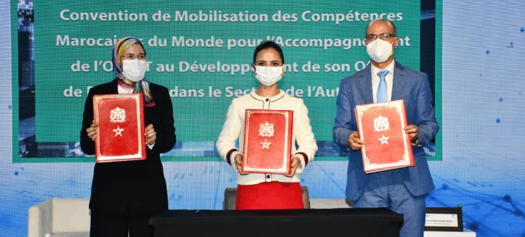 convention spécifique de partenariat autour de la mobilisation des Compétences Marocaines du Monde pour l'accompagnement de l'OFPPT au développement de son offre de formation dans le secteur de l'Automobile